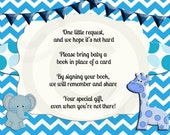 Instant dowload,Bring a Book Insert Card, Baby Shower Book Request Insert Card, PDF Printable book request insert, baby shower