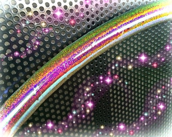 "Ready to ship - Sunset  Galaxy Glitter 35"" 3/4"" Polypro Performance Dance & Exercise Hula Hoop - color changing"