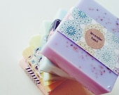Lavender Basil Soap: handmade goats milk soap, homemade lavender soap