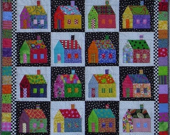 Quilt Pattern -- Paper Pattern for Sought-after Neighborhood quilt