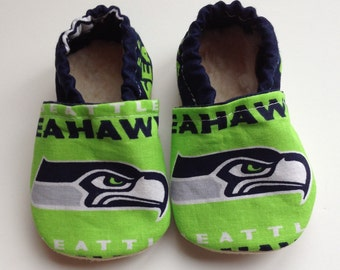 Unique Seattle Seahawks Inspired  Cloth Baby Booties