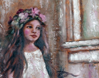 Daydreamer Original Oil Painting by Kelly Berkey 10x10