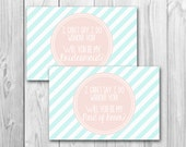 Will you be my bridesmaid, maid of honor card, bridal party invite, instant download, mint and pink