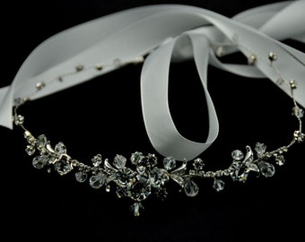Bridal Hair Vine - Crystal hair vine, halo