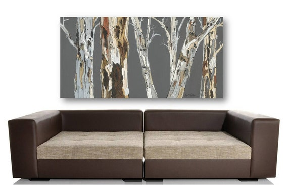 Very Large Wall Art Print Tree Art Rolled Canvas Pastels