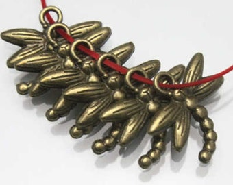 10 Dragonfly Charms Antique Bronze Tone 18 x 17 mm - bz303
