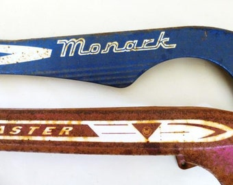 Monark and Roadmaster AMC Chain Guards, Bicycle Parts, Salvaged Metal Parts