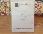 150 PCS - 1/2 inch Hexagon Paper Templates for English Paper Piecing