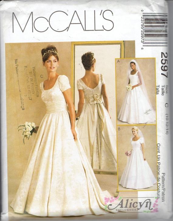 Alicyn Bridal Gown Wedding Dress Pattern McCalls 2597 Scoop