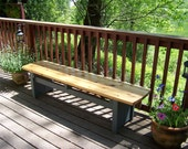 Trestle Bench - Patio Seating - Wood Bench - Wood Furniture