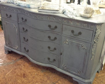 Shabby Chic Painted Buffet/Server/Media Console
