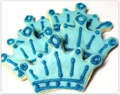 Tiara Sugar Cookies Blue Princess Crown Iced Decorated Sugar Cookies Frozen Birthday Princess Party