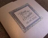 Glitter Wedding Invitation / Stunning and Elegant Glitter Pocketfold Wedding Invitation with No-Transfer Glitter Backing. Fully Customizable