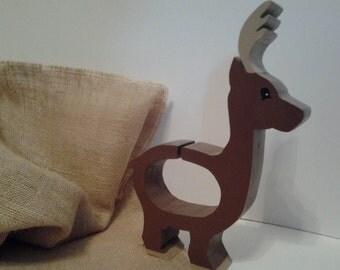Handmade Wooden Deer Bank