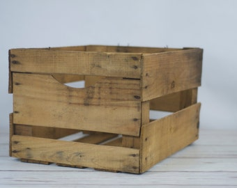 Vintage Large Wood Shipping Crate Fruit Crate Large Wood Vintage Fruit Box