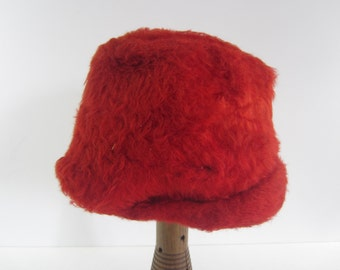 Red Fur Vintage Hat