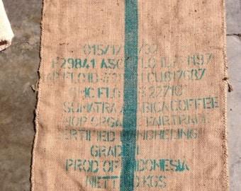 Burlap/Jute Coffee Sack, Bag (Sumatra)