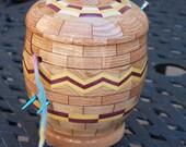Segmented Oak Yarn Bowl with Lid KB 63