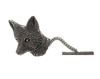Shy Fox Head Tie Tack