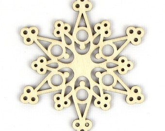 Snow Weave - Laser Cut Wood Snowflake in Multiple Sizes and Quantity Discounts