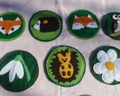 Ready To Ship: Handmade Woodland Felt Coasters