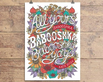 Babooshka Kate Bush Greeting Card