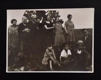 Original Antique Photograph The Waiting Game 1920