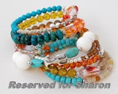 Jake... Reserved for Sharon  One of kind memory wire bracelet... Original OceanBead style.