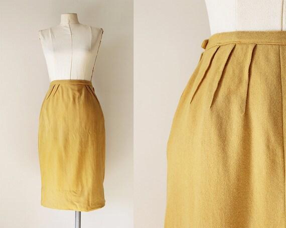 1940s vintage pencil skirt 40s vintage wool skirt