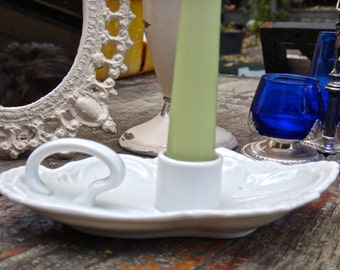 Candle Holder, Sconce, Taper Candleholder, White Candle Holder, White Sconce, Cottage Chic, Maryland China Japan, Centerpiece, Hostess Gift