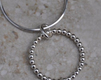 Genuine Sterling Silver Circle Pendant
