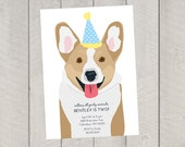 Dog Birthday Invitation - Children's Birthday Invite