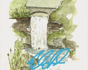 Original Minnehaha Falls Watercolor