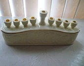 Judaica porcelain Chanukah Menorah Formalities by Baum Bros., Reserved for Aimee
