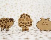 Cross Stitch Needle Minder, Cute animal needle magnet, Wood Magnetic Needle Minder. Hand embroidery, Needle Keeper.