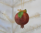 Pomegranate Ornament Glittered