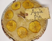 Apple Pie, Pantry Pie, Fake Pie, Fabric Soft Sculpture Food, Thanksgiving Harvest Decor
