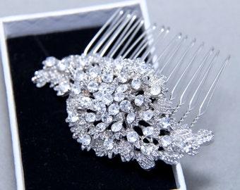 Vintage Style Spiral Special Wedding Hair Comb, Bridal Hair Comb, Hair Accessory, Rhinestone Headband