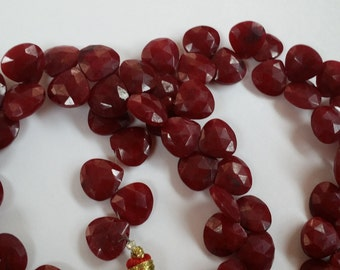 Natural Ruby He-treated Hearts