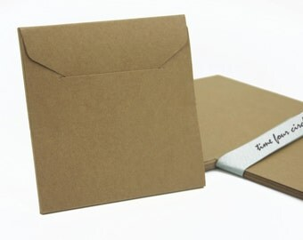 Set of 10, Kraft CD/DVD Case, Wedding Favor, Project Case