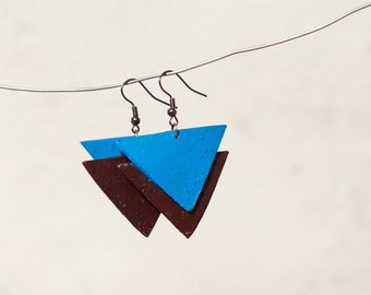 Recycled Paper Earrings - Triangle