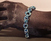 Three-Color Mobius Byzantine Bracelet