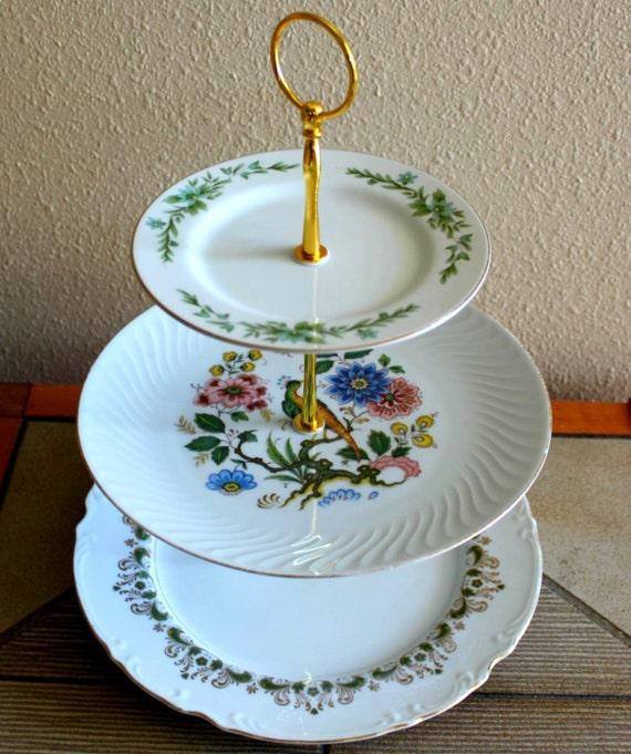 Mikasa Floral Cake Plates