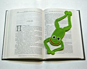 061 Frog Bookmark or decor - Amigurumi Crochet Pattern - PDF file by Zabelina Etsy