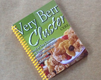VERY BERRY CLUSTERS cereal packaging chip recycled spiral bound journal notebook
