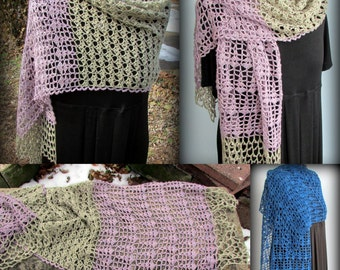 Pattern only - Sage, Rosemary and Thyme Shawl pattern crochet lace pattern shawlette rectangle scarf