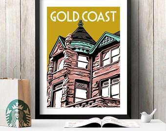 GOLD COAST Chicago Neighborhood Poster