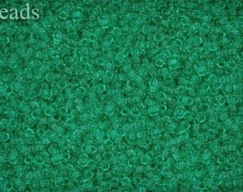 15/0 TOHO seed beads 10g Toho beads 15/0 seed beads Beach Glass Green 15-72F Frosted Matte beads last