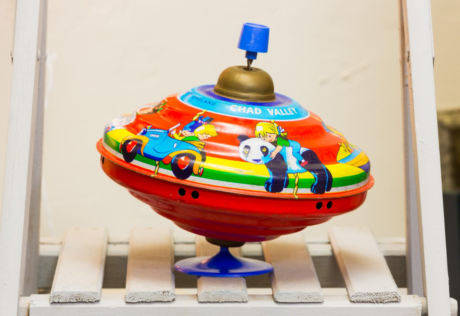 Retro Top Toys : Vintage chad valley spinning top retro toys children s