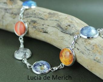 Solar System Bracelet -  Planet Jewelry - Astronomy, Space, Universe, Planetary Jewelry